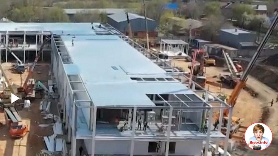 На ТВ показали как завершается строительство российского медцентра для борьбы с COVID-19