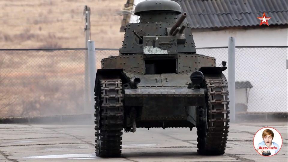 """На """"Звезде"""" показали восстановленный первый советский танк"""