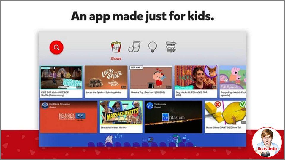 Появилось приложение YouTube Kids для Apple TV