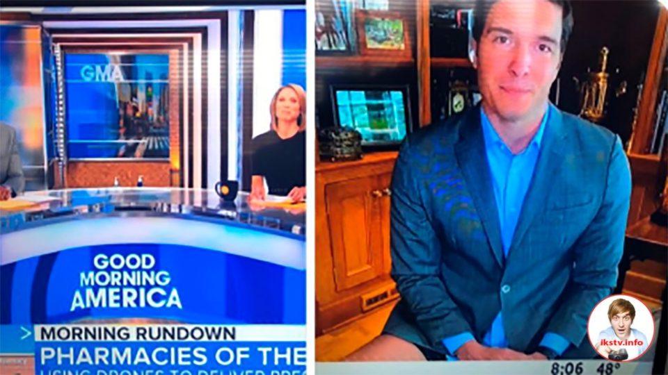 И так сойдёт: на американском ТВ ведущий появился без брюк