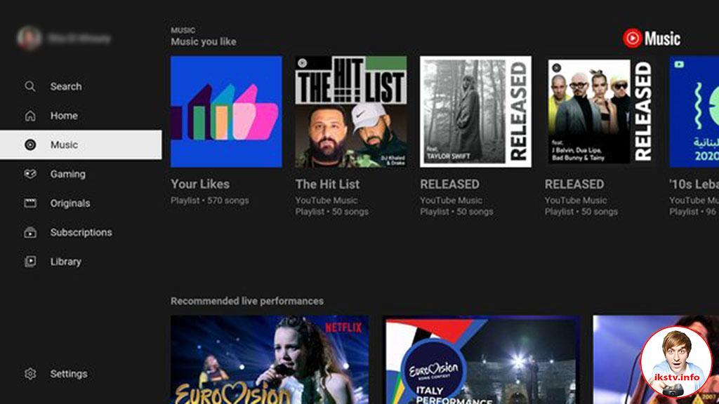 В телеверсии YouTube появился музыкальный раздел