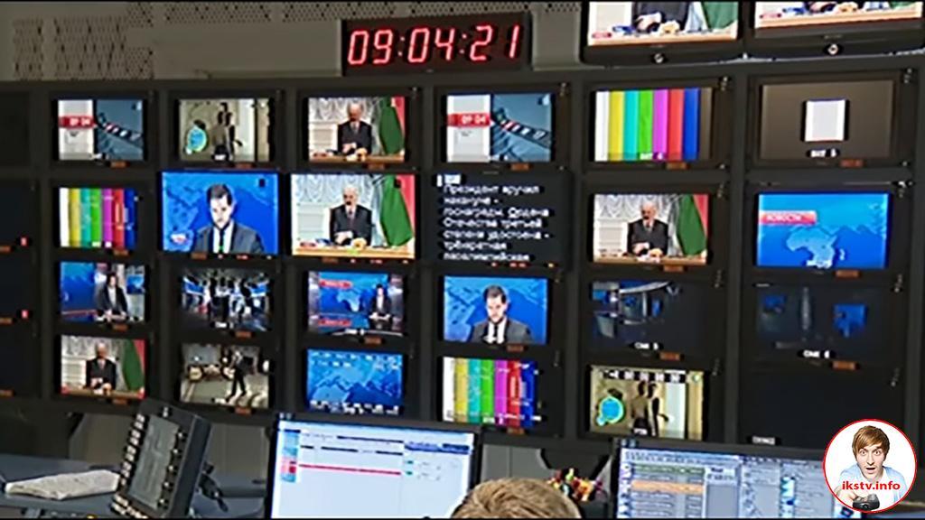 Белорусское ТВ на фоне акций против Лукашенко работает в обычном режиме