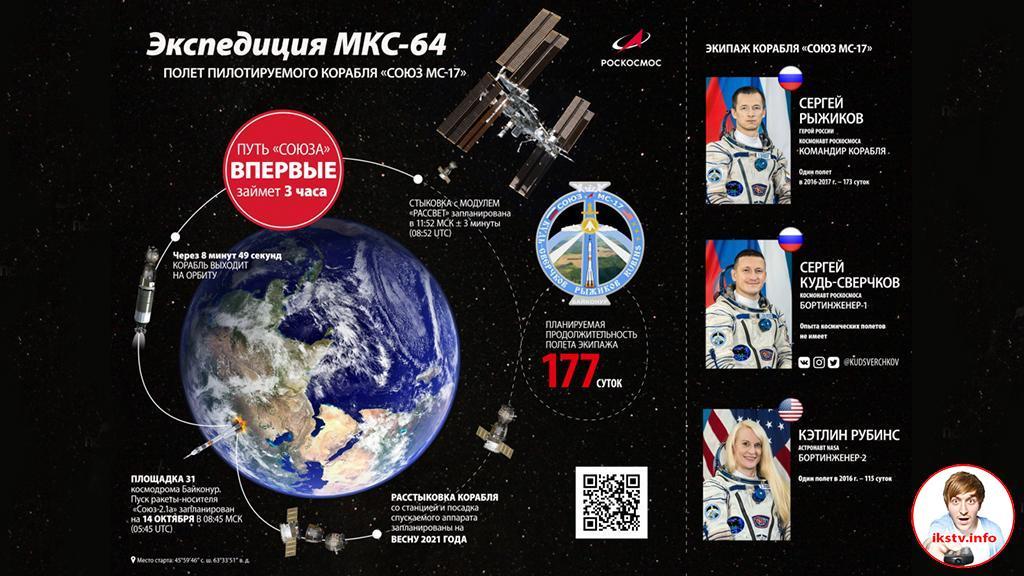 """На """"Эврике"""" можно будет увидеть запуск «Союз МС-17»"""