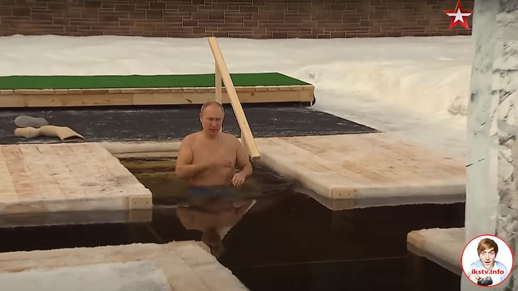 """""""Звезда"""" показала крещенское купание Путина"""