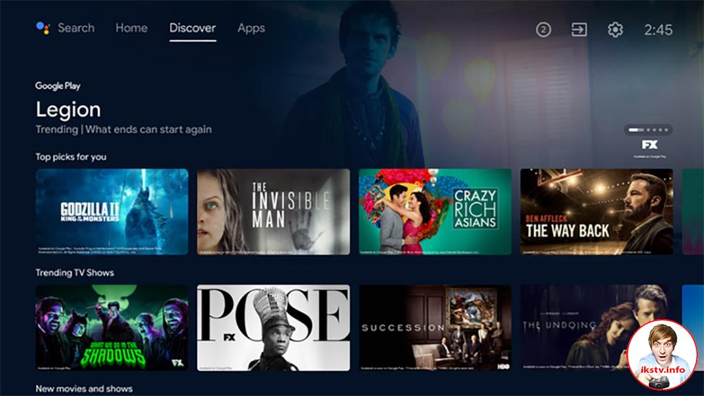 Интерфейс Android TV обновился